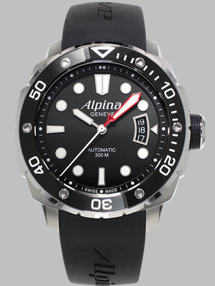 Alpina Swiss Diver 300 with rubber strap