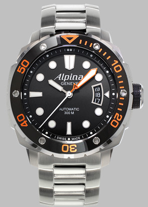 Alpina AL-525LB04V26B with bracelet and colored index.