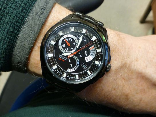 Citizen BL8097-52E on the wrist