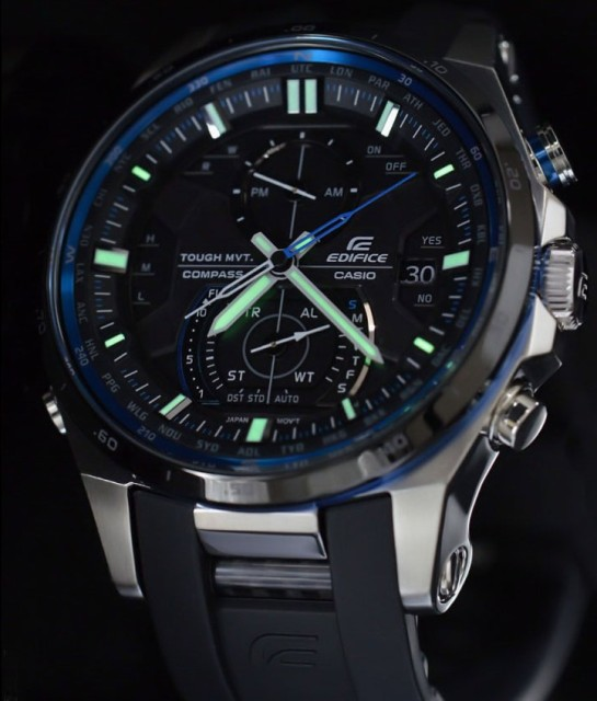EQW-A1200B-1AJF Japan domestic version - RC, Solar, World Time, Digital Compass etc.