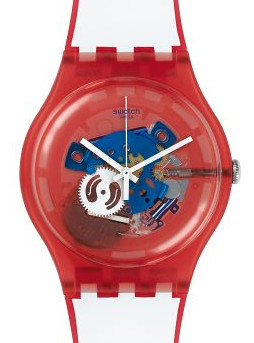 Typical Swatch unisex - Clownfish watch - Red - SUOR102