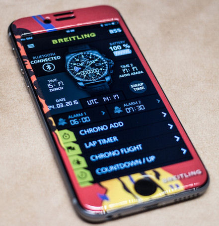 The Breitling App - almost a monitor for the watch dial.