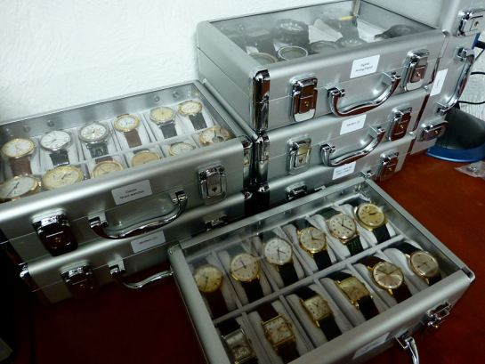 Neat storage cases for watch collection. Great space savers and can easily be moved around.