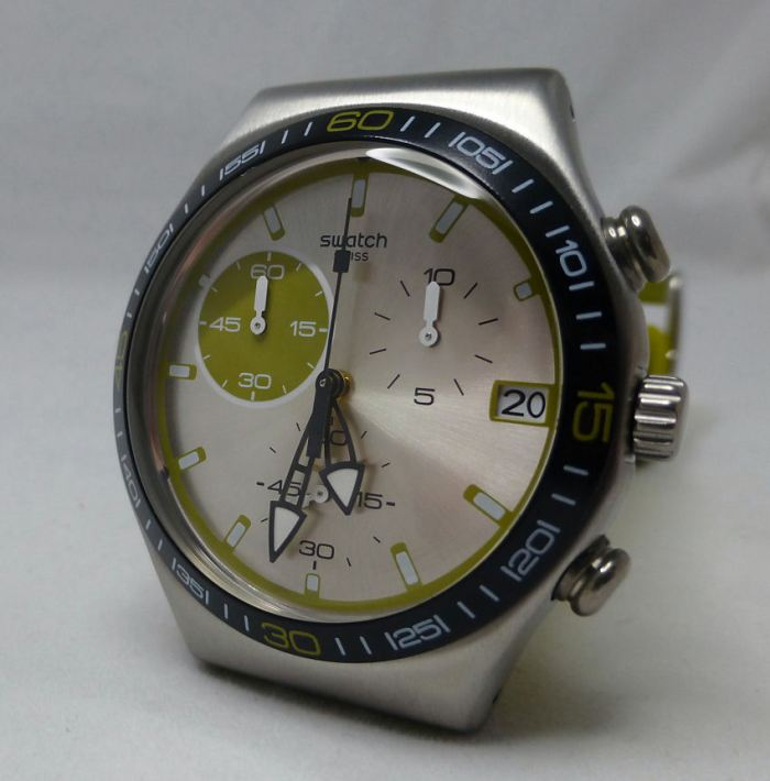 Swatch Green Wink YCS565 from the Irony series