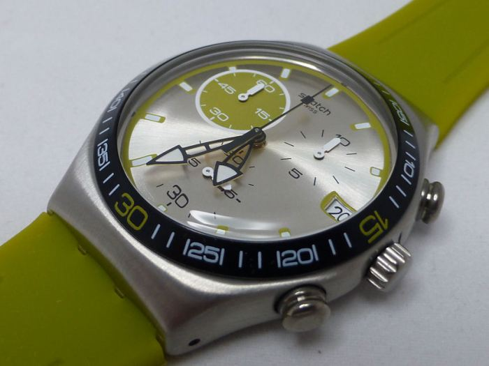 Great colorway with the green Wink from Swatch