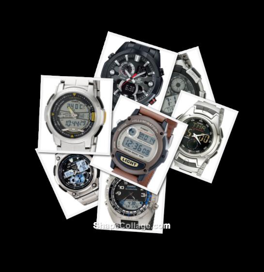 A selection of Casio Ana/Digi's - AQF1000WD-9BV, AQ160WD-1BV, AE1000WD-1AVCF, AMW700V-1AV, W89HB-5AV, ERA201BK-1AV