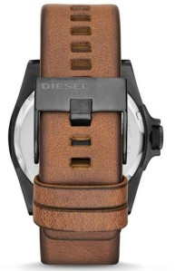 Tan & gunmetal Stainless steel complimentary buckle layout