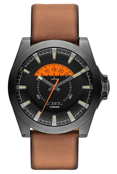 The Diesel Arges DZ1660 disk date watch.