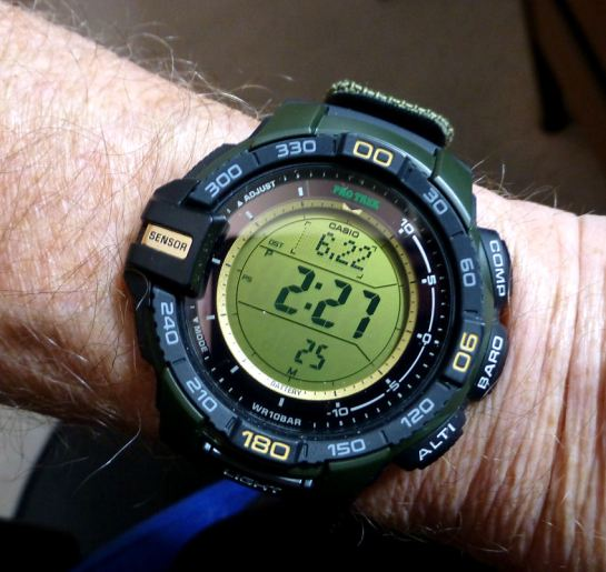 Casio Protrek PRG270B-3 with Textile buckle strap.