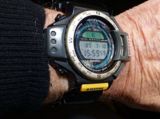 ATC1200 on an average wrist - not bad for a triple sensor Casio