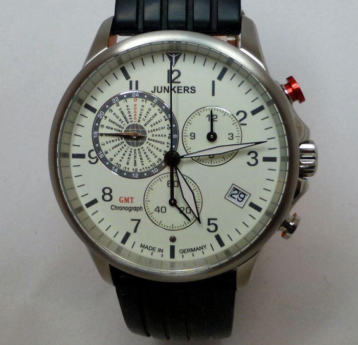 Junkers 6892-5 Worldtimer, Date Chronograph.