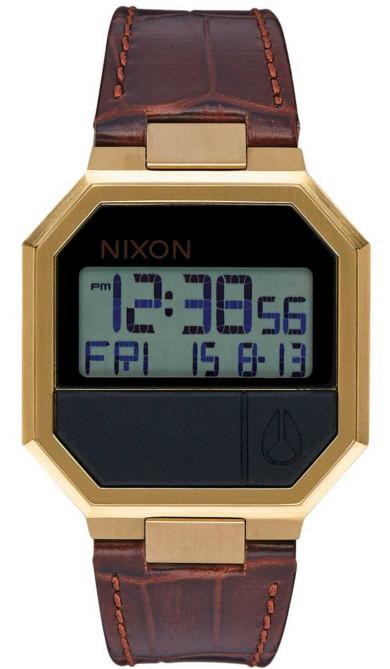 Nixon Re-Run Leather watch