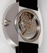 Interesting 3 part stainless steel Botta back, with sapphire crystal