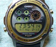 Casio DW7200 Pentagraph dial design