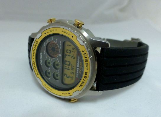 Casio DW7200 PentaGraph from 1989 - Japan made referee timer.