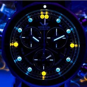 Grand Chronograph with Tritium Light Source illumination.
