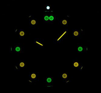 6205205 Tritium Light Source - view in darkness.