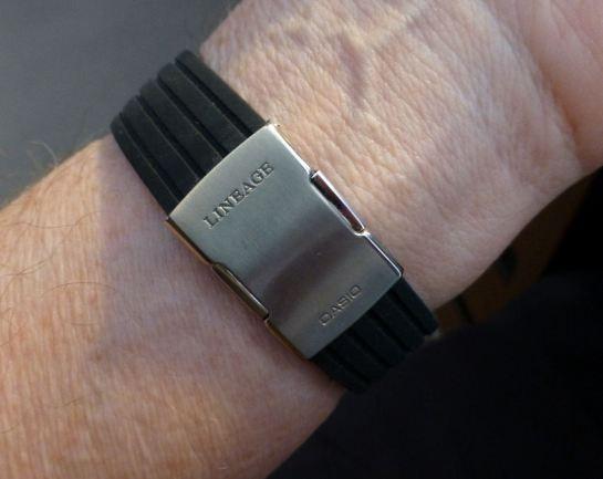 Casio logo original deployment on silicon strap replacement.