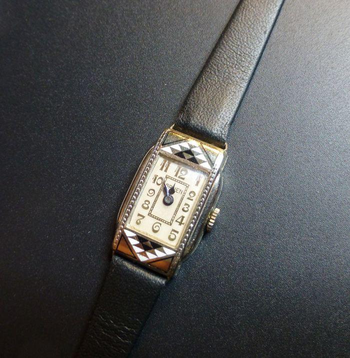 Ladies 1929 vintage Gruen 14ct White Gold Filled - Auction find.