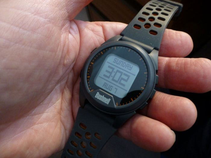 The Bushnell Neo Ion GPS Golf Watch.
