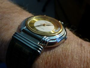 Note the fluted stainless steel case shaping - plus articulated lugs.