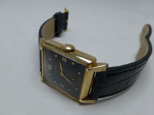 Longines black dial, gold filled case - elegant and neat