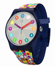 The Swatch Rounds and Squares watch - go on make a splash!