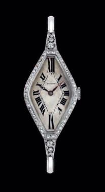 "1930's Vulcain with diamond decoration - from the Vulcain ""book""."